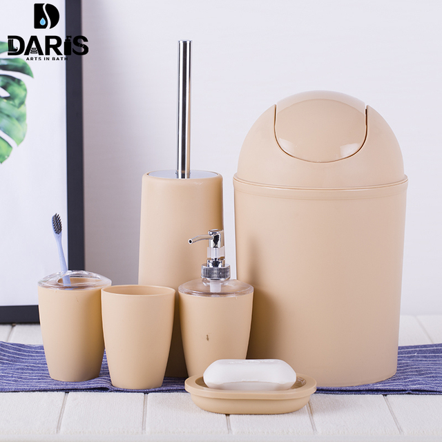 Delicieux SDARISB 6PCS Solid Luxury Plastic Bathroom Accessories Set Wash Suit Shell Bath  Set Tumbler Toothbrush Holder