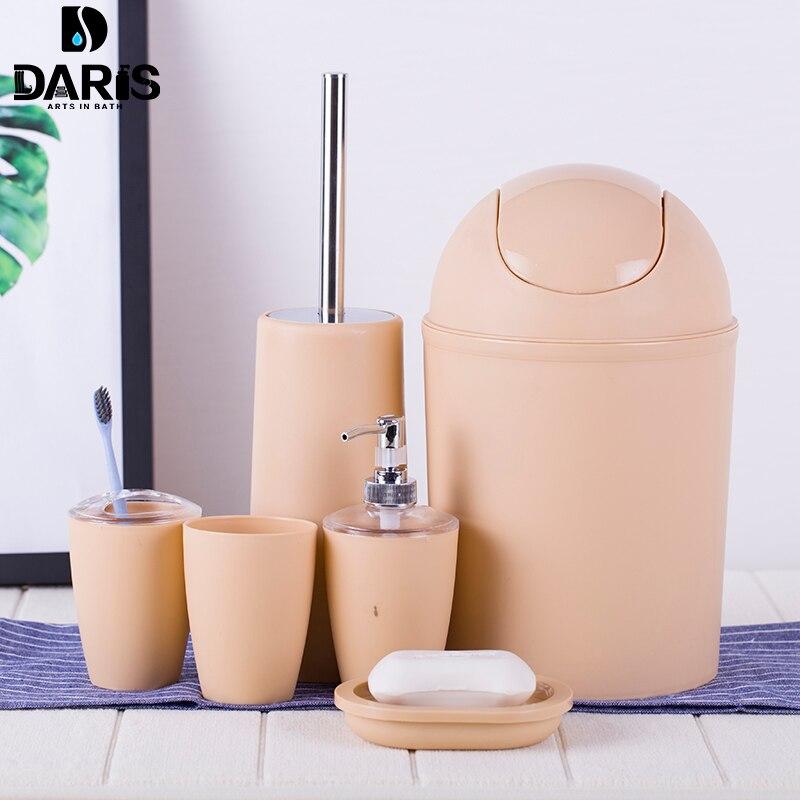 Sdarisb 6 шт. Твердые Роскошные Пластик Аксессуары для ванной комнаты устанавливается мыть костюм В виде ракушки Для ванной набор стаканов Зубная щётка держатель набор Для ванной хранения