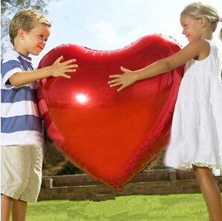 Esküvői dekoráció Hélium léggömbök Nagy piros szív alakú fólia léggömb esküvői party szerelem házasság léggömbök esküvői kellékek