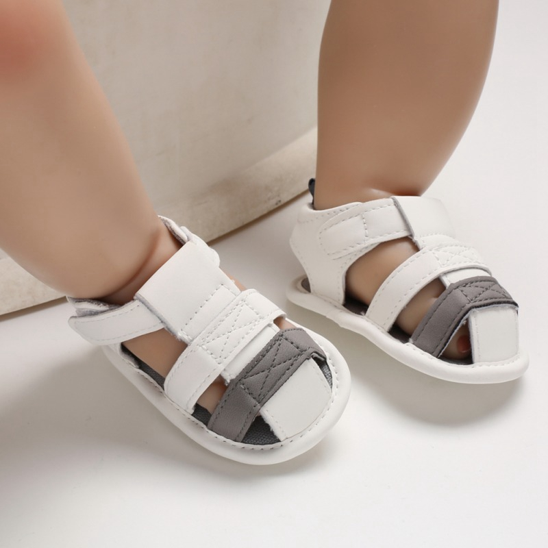 Hot Sale 3 Colors Summer Baby Boys Breathable Anti-Slip Sandals Newborn Soft Pre-walking Shoes Baby Shoes 2019 New-arrival