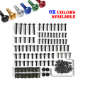 Sportbikes Motorcycle Fairing Bolts Kit Fastener Clips Screw Aluminium