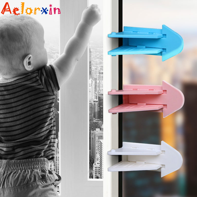 3Pcs/Lot Protecting Baby Safety Security Lock For Sliding Door Lock Latch Sliding Window Lock Child Safety Lock Child Protection