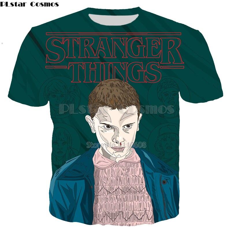 PLstar Cosmos Brand Cool T-shirt Men/Women 3d Tshirt Print Stranger Things Short Sleeve Summer Tops Tees Fashion T shirt S-5XL