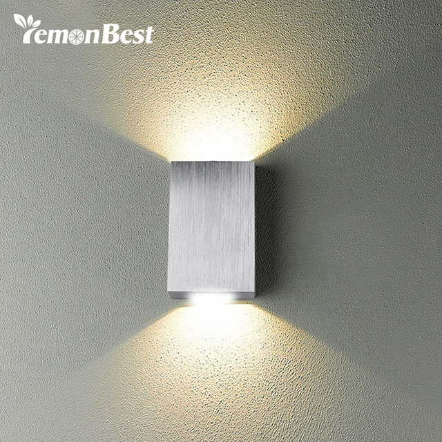 Modern Style Dual Head 2w Led Wall Light Indoor And Outdoor Decoration Aluminum Mini Lamp