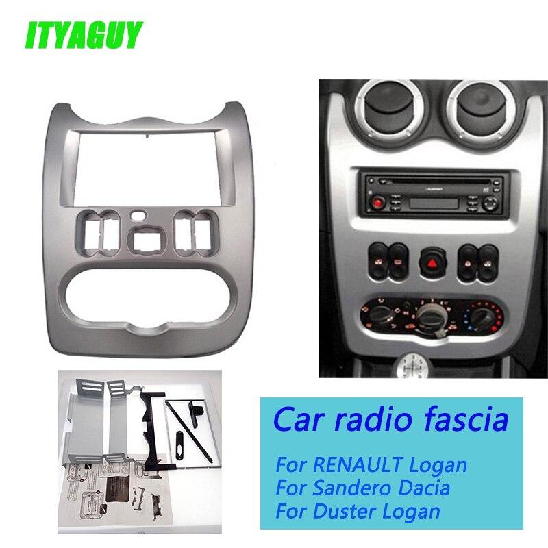 ITYAGUY Double DIN Voiture dash Radio Fascia pour Renault Logan adaptateur CD Garniture Panneau Plaque Fascia Cadre En Dash Montage Kit