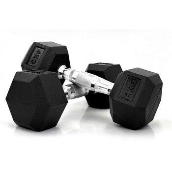 17 5kg 2pcs Six Corner Fixed Dumbbells men with rubber cover dumbbells for fitness bodybuilding dumbbells