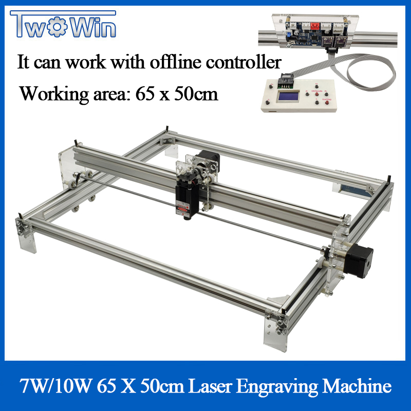 6550 10W/7W Big Laser CNC Machine Desktop DIY Violet Laser Engraving Machine Picture Printer Engraver Working Area 65cmx50cm