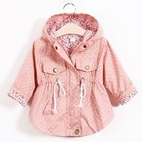 2016 Fashion Children S Jacket Girls Outwear Casual Hooded Coats Girls Jackets School 2 8Y Baby