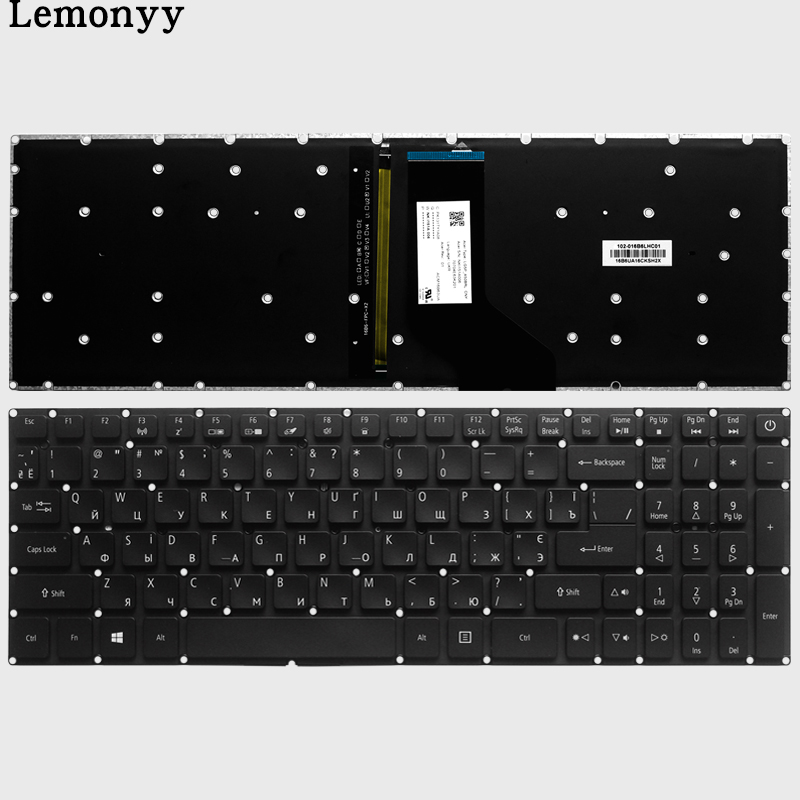 New Russian keyboard for Acer Aspire V17 VX15 VN7 593 VN7 793 VN7 793G VX5 591