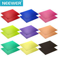 """Neewer Correction Gel Light Filter Transparent Color 12x8.5 """"8 Sheet with 9 Colors for Photo Studio Strobe Flash LED Light"""