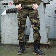 Herfst Merk Mannen Mode Militaire Cargo Broek Multi pockets Baggy Mannen Broek Casual Broek Overalls Camouflage Broek Man Katoen
