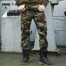Pantalones Cargo militares de moda para hombre, de marca de otoño, con múltiples bolsillos, holgados, informales, de camuflaje, de algodón