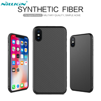 Nillkin Synthetic Fiber For IPhone X Case Carbon Fiber PP Plastic Back Cover For IPhone X