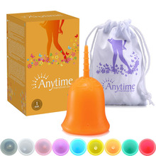 Anytime Internantional Brand Female Softcup Medical Grade Silicone Menstrual Cup For Women S Hygiene Free Shipping