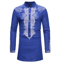 3color Print African Clothes for Men Dashiki National Bazin Rich Dress Africa Dress Vestido T shirt Embroidery Clothing