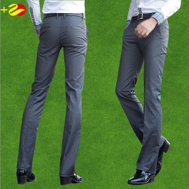 Mens dress pants formal mens trousers Suit Pants slim vestidos big size 40 perfume masculine pantalon costume homme grey black