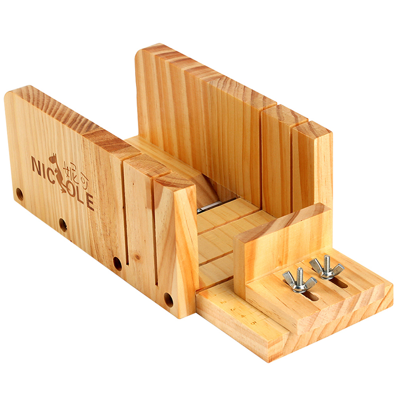 Adjustable Soap Cutter Wood Box Multifunction Cutting and Beveler Planer Tool for Handmade Soap Making Tool