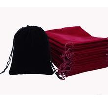 Velvet Pouch 12x10cm Jewelry font b Bag b font Black Christmas Wedding Gift font b Bags