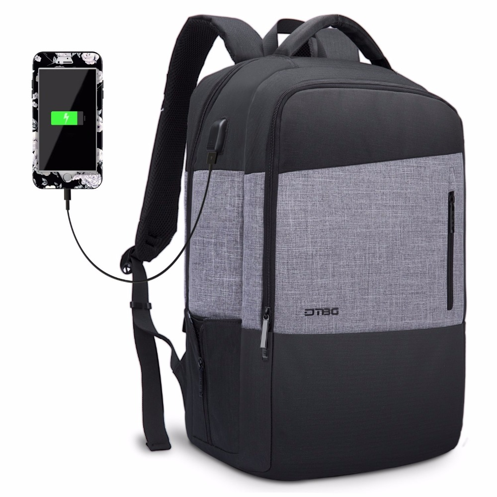 "Dtbg 17"" Laptop Backpack Business Backpack With Usb Charging Port Water-resistant Multi-compartment Unisex School Bookbag"