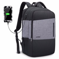 2018 DTBG 17 Laptop Backpack Business Backpack With USB Charging Port Water Resistant Multi compartment Unisex School Bookbag