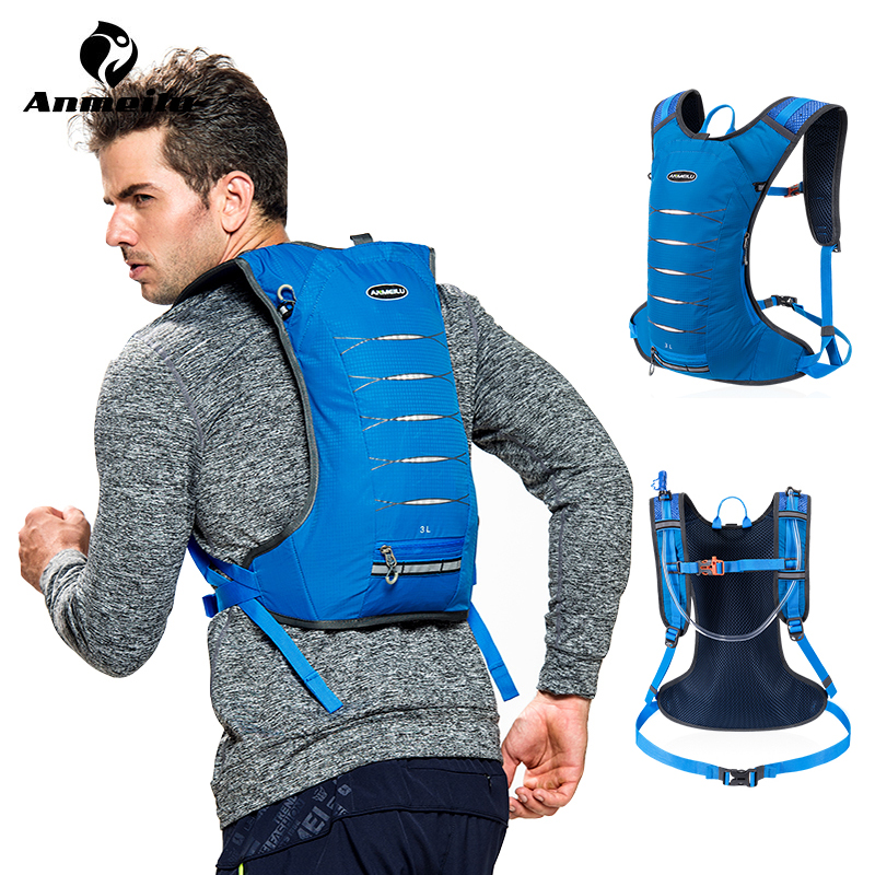 Anmeilu 3L Running Hydration Backpack Unisex Sport Backpack Trail Running Marathon Bag Cycling Bicycle Backpack