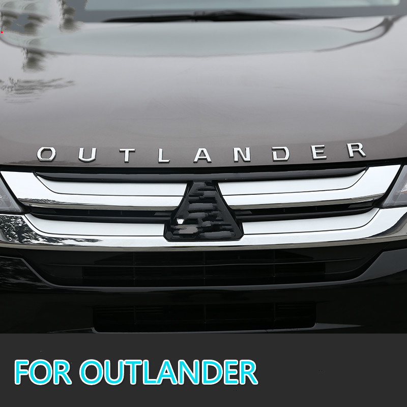 Para mitsubishi outlander chrome carro 3d letras capa emblema logotipo emblema emblema adesivos de carro estilo do carro acessórios do carro fraseando carta 3d