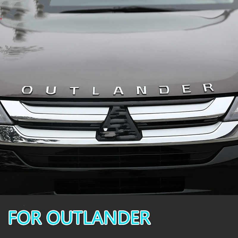 Dla Mitsubishi Outlander Chrome samochód 3D litery kaptur Logo symbol odznaka naklejki samochodowe stylizacja akcesoria samochodowe sformułowanie 3D list