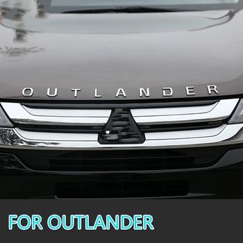 Für Mitsubishi Outlander Chrome Auto 3d Buchstaben Haube Emblem Logo Abzeichen Auto Aufkleber Styling Auto Zubehör Wortlaut 3d Brief