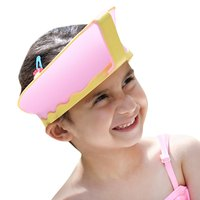 Practical Adjustable Waterproof Hair Wash Shield Shampoo Cap For Children Waterproof Resizable Colorful Baby Safe Shampoo