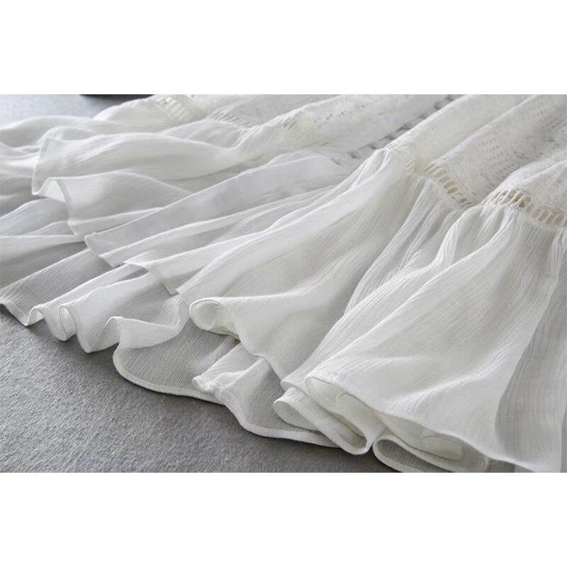 Image 5 - Женское длинное платье туника Ordifree, белое кружевное платье  туника с длинным рукавом, для отпуска, 2020Платья