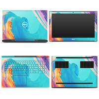 GOOYIYO 4pcs/Set Laptop Sticker Top Bottom Keyboard Full Skin Vinyl Decal Cartoon DIY Print For Dell Inspiron 7577 15 Skin