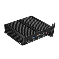 Промышленный мини ПК Intel Celeron 1037U процессор 2x LAN 4x RS232 8x USB HDMI VGA WiFi мини PCI E Windows Linux Настольный ПК