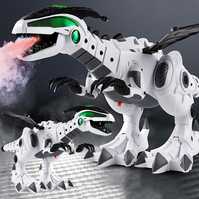 Juguetes De Dinosaurio Para Niños, Juguete De Dinosaurio Eléctrico Con Pulverización Blanca, Pterosaurio Mecánico Para Niños, Modelo Pequeño De 3 Piezas