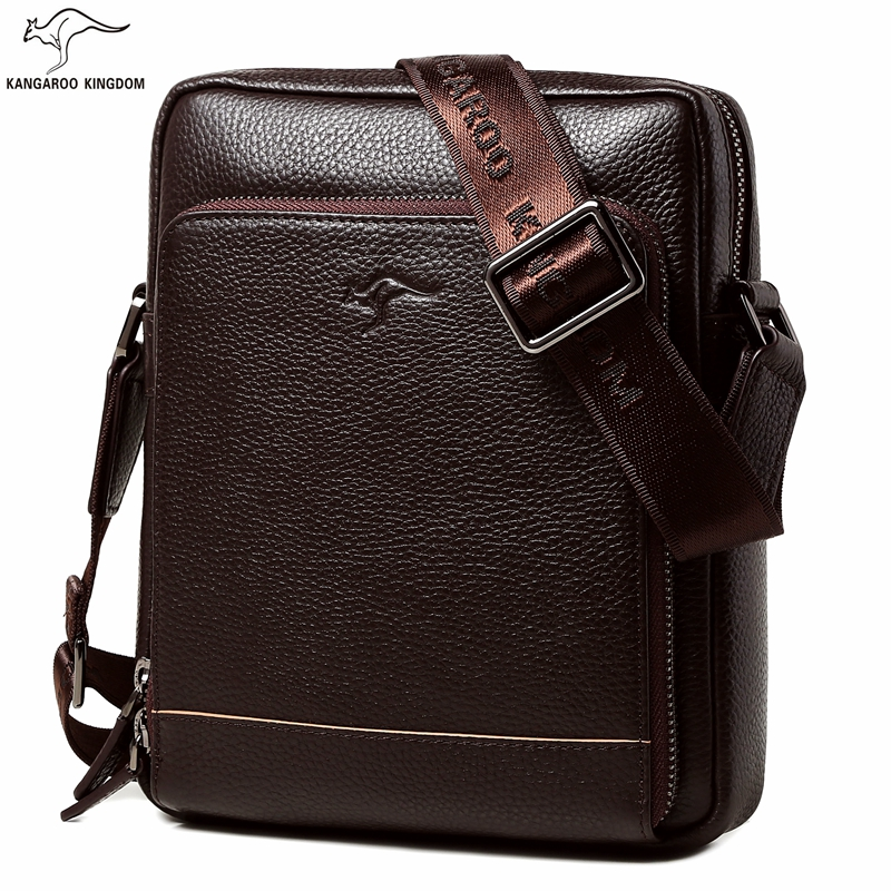KANGAROO KINGDOM fashion genuine leather men bag small shoulder bags casual male crossbody messenger bags kangaroo kingdom famous brand nylon men bag chest pack male one shoulder crossbody messenger bags