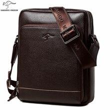 KANGAROO KINGDOM fashion genuine leather men bag small shoulder bags casual male crossbody messenger bags