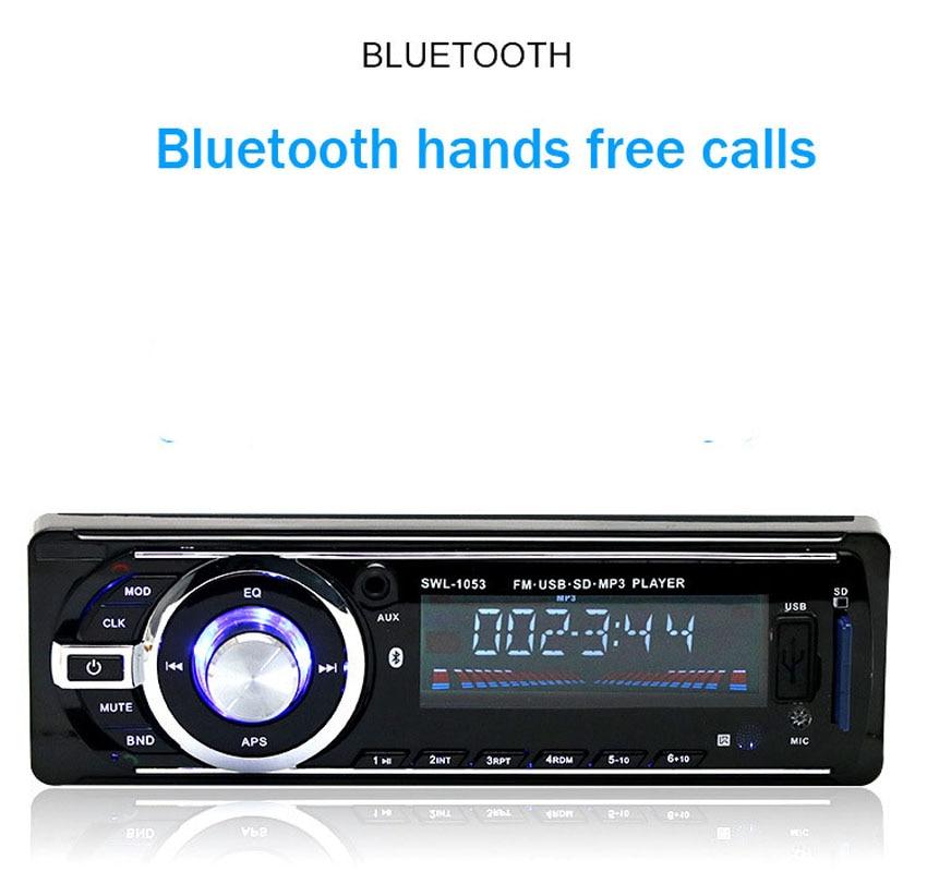 Autoradio Bluetooth MP3 FM / USB / 1 Din / afstandsbediening / - Auto-elektronica