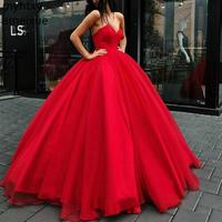 2019 Hot Ball Gown Tulle Prom Dresses Sweetheart Corset Blue Green Burgundy Red Sexy Evening Dress Lace Up Robe De Soiree