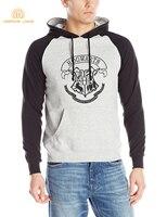Hogwarts School Print Raglan Hoodies Men 2017 Autumn Winter Fleece High Quality Sweatshirt Men Casual Loose