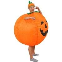 Halloween Adult Funny Party Cosplay Pumpkin Costume Halloween Inflatable Pumpkin Costume For Women Men Halloween Party Supplies