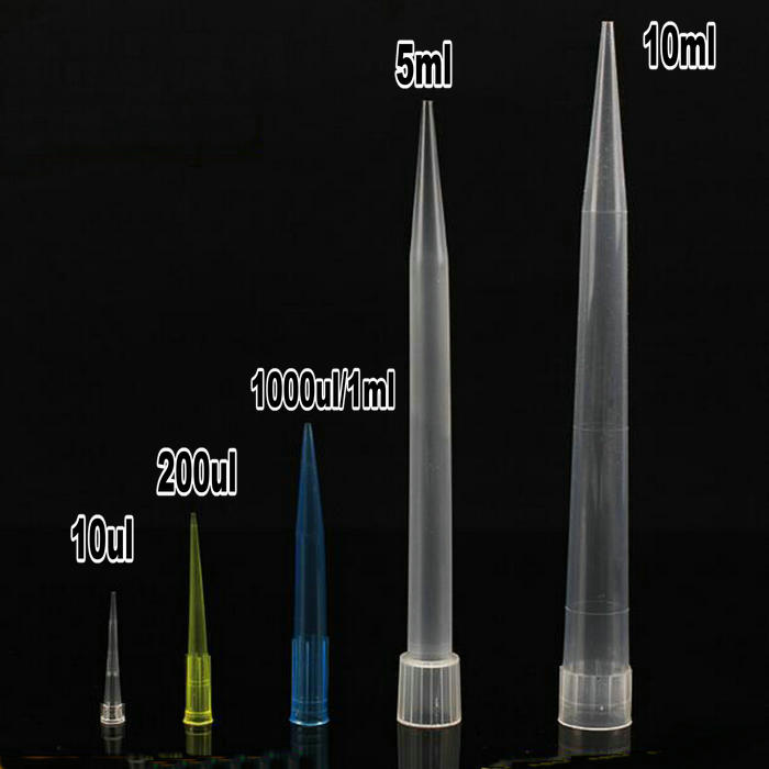 Lab 10ul 200ul 1000ul 5ml 10ml PP Plastic Pipette Tips For Microbiological Test Pipettor Tips/ Disposable Pipette Tip