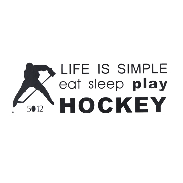 PVC Hockey Wall Sticker LIFE IS SIMPLE eat sleep play Hockey Quote Wall Stickers Removable Wall Decor