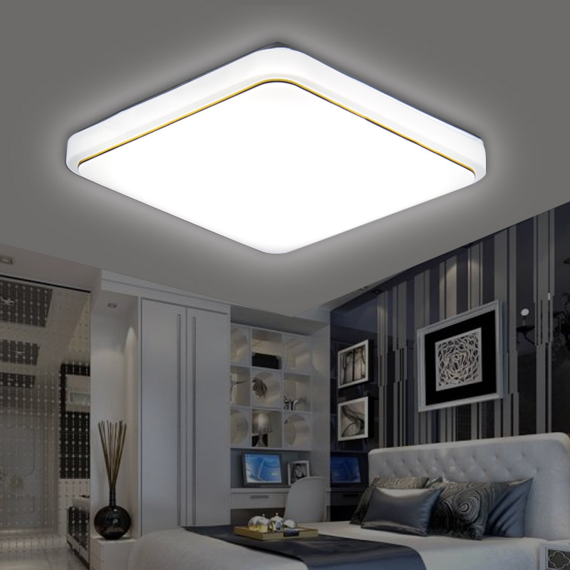 Hawboirry Led Ceiling Light Modern Lamp Living Room Lighting Fixture Bedroom Kitchen Surface Mount Flush Panel Remote Control Ceiling Lights & Fans