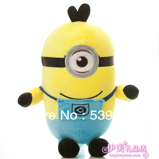 Бесплатная доставка 30 см 12 дюймов миньон Гадкий я мягкие игрушки маленький желтый человек рождественский подарок товары для творчества