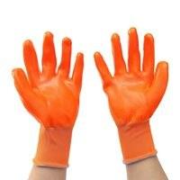 Новый safurance 12 пар Оранжевый ПВХ тяжелых химически стойкие рукавицы Предметы безопасности работы Перчатки на рабочем месте Предметы безопас...