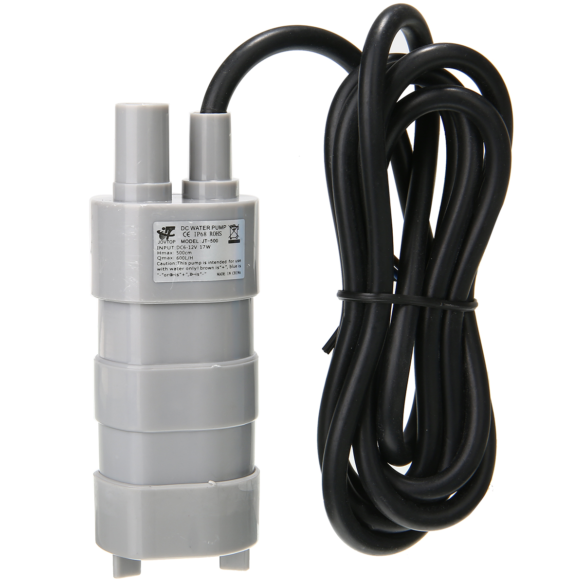 600L/H 12V High Flow Water Pump Submersible Water Pump 5M For Fish Tank Change Water Camper Caravan Motorhome