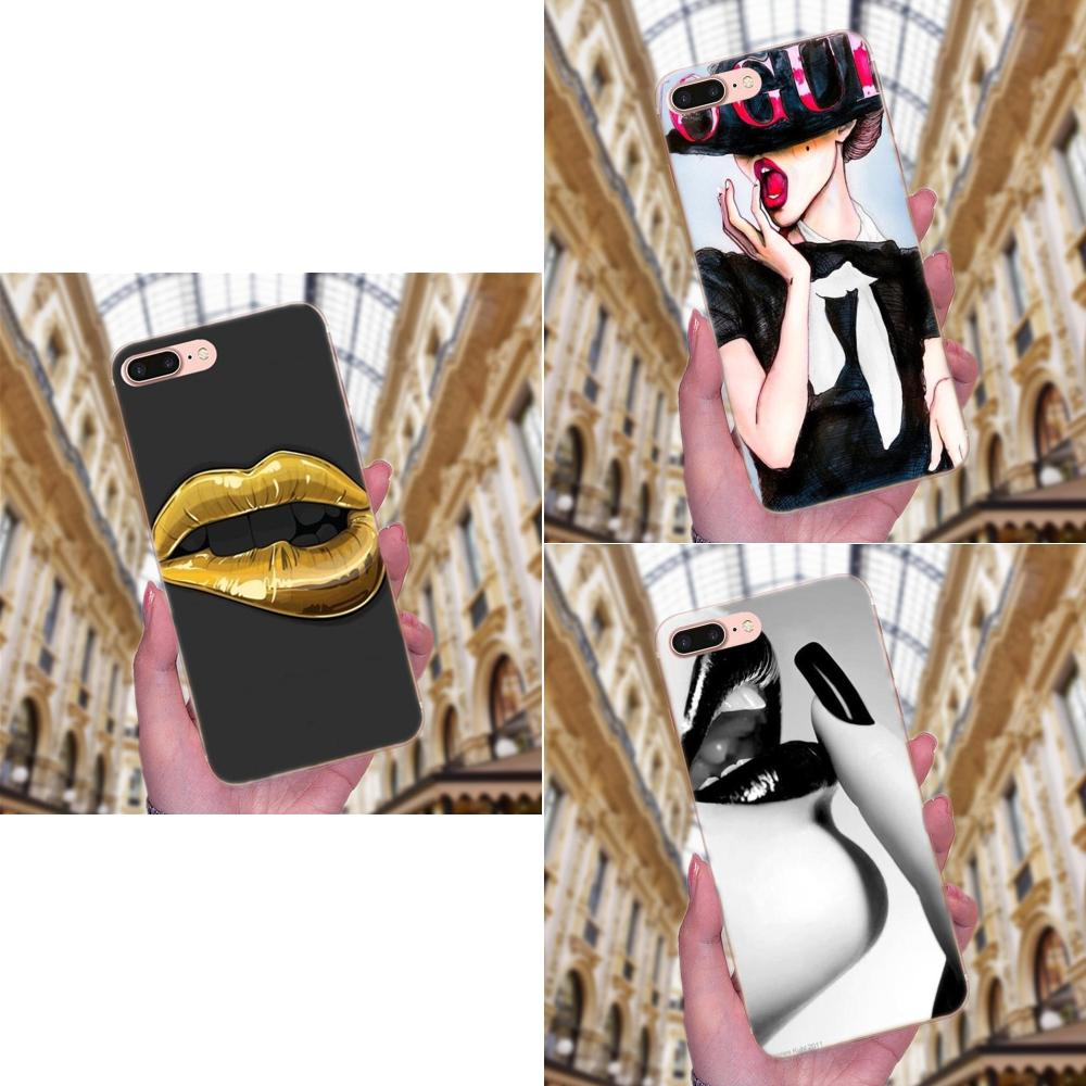 <font><b>Sexy</b></font> <font><b>Girl</b></font> Red Black God Lip Lovely Block Phone <font><b>Case</b></font> For <font><b>Galaxy</b></font> J1 J2 J3 J330 J4 <font><b>J5</b></font> J6 J7 J730 J8 2015 <font><b>2016</b></font> 2017 2018 mini Pro image