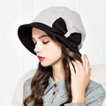 Lady New Autumn and Winter Wool Hat Female Fashion Garment Flower Decoration Cap Girls Winter Warm Woolen Cap B-4509