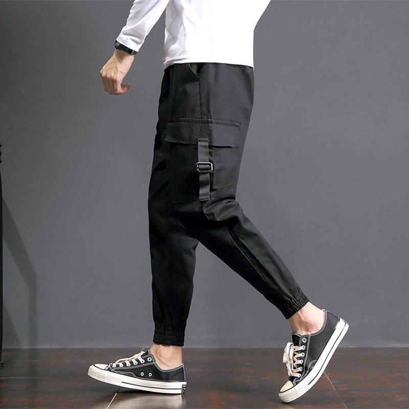 Japanese Cotton Work Pocket Leisure Mens Trousers Fashion Casual Pants Male Overalls 2018 Spring Long Pantalon Hombre Chinos
