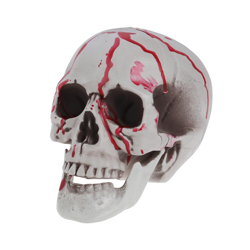 1PC Halloween Skull Decor Human Horror Resin Comedy Spoof Novelty Realistic Skull Head Shape Toy Ornament Decor Prop