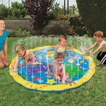 100 см летний детский уличный игровой водный пляжный коврик, надувная спринклерная подушка для газона, игрушки, подушка, подарок для детей